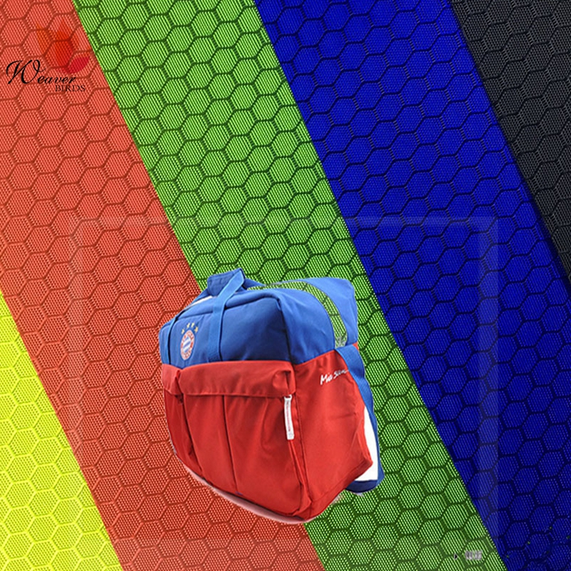 420D Honeycomb/Football Jacquard 100% Polyester waterproof Oxford Fabric For Bag and Case