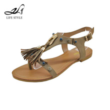 Hot Sale Fashion Shoes Flat Tassels Ladies Indian Bridal Wedding Sandals