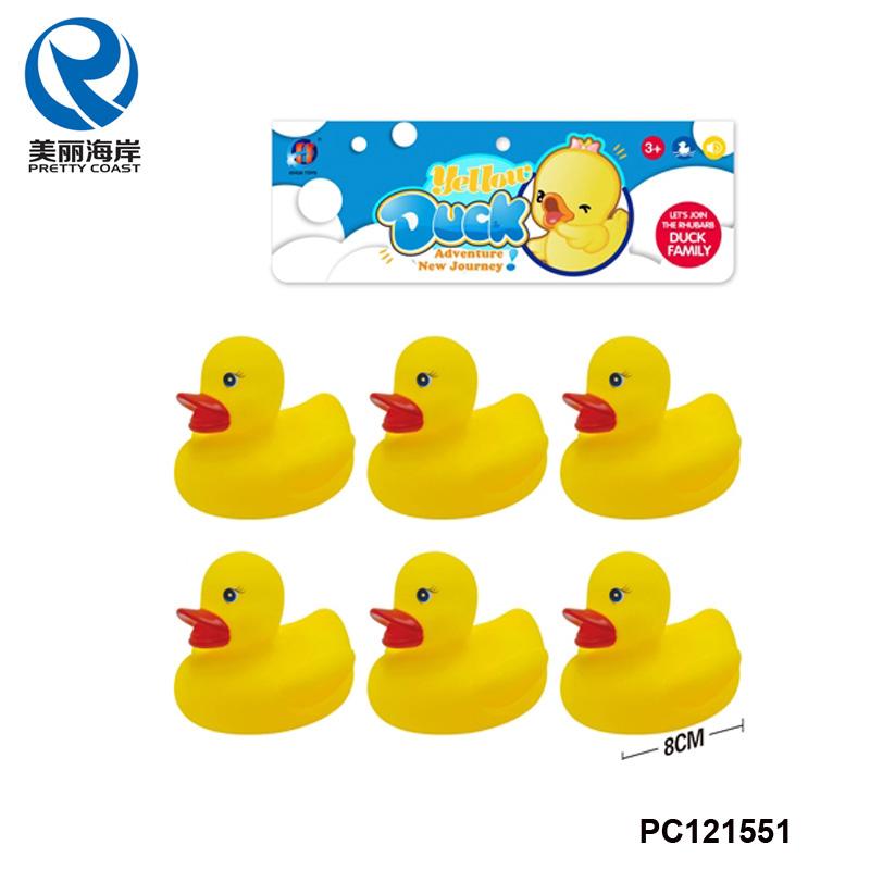 Soft Plastic Baby Bath Toys 6 Pcs Yellow Rubber Bath Duck - Buy Bath ...