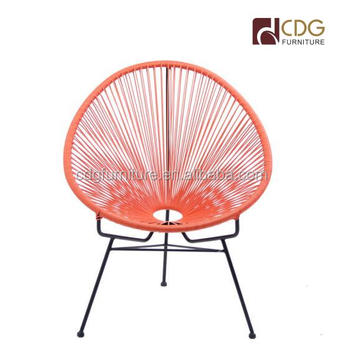 Colorful Acapulco Egg Lounge Stylish Chair For Outside Use Rattan