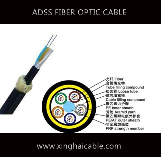 ADSS single mode AT sheath long span fiber cable
