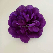 Real touch latex flower white artificial big rose head,cheap artificial flower head for wedding car