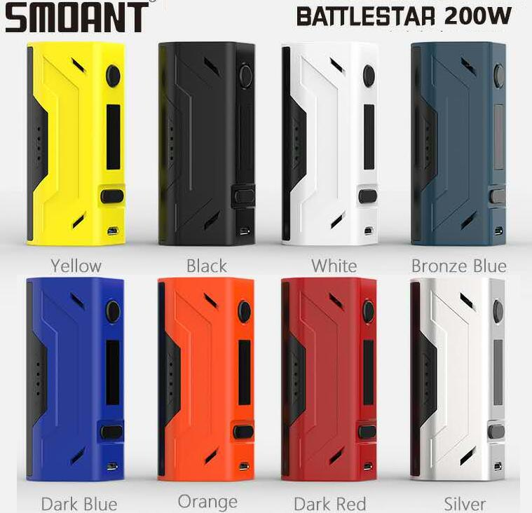 New color Made in China Latest Vaping high Mod Smoant Battlestar 200W TC Box vape Mod