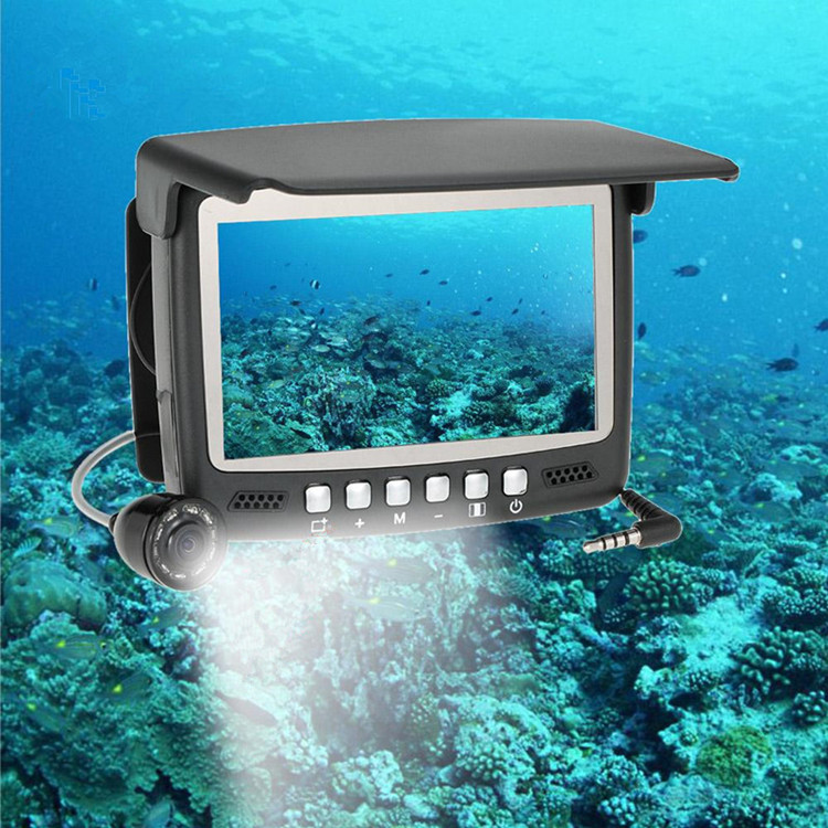 "Waterproof 4.3"" hd 15m 20m 30m cable underwater ice fish finder camera  for 8g card"