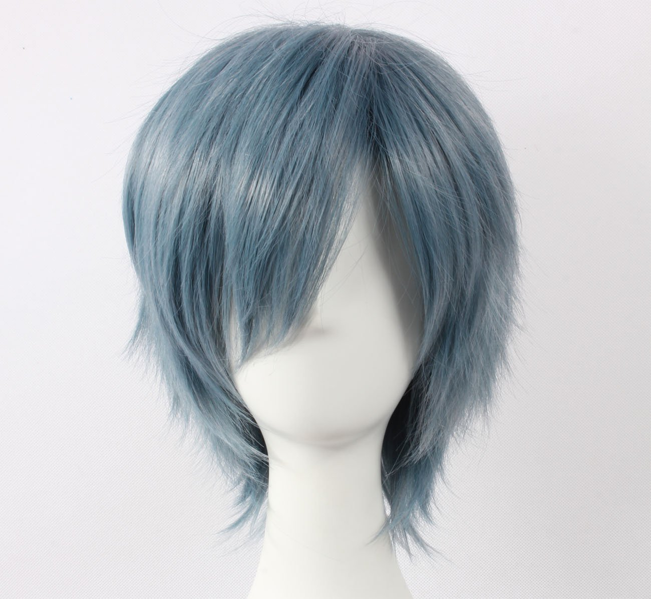 Coolsky Wig Dark Blue Wig Short Dark Blue Straight Wig Wigs