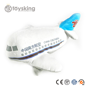 Custom Made Corporate Business Gifts with Logo Mascot etc, Airplane Model Plush Soft Stuffed Toys