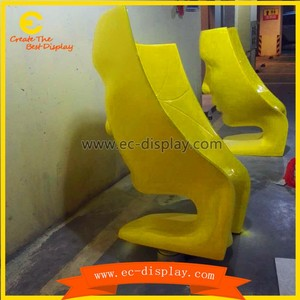 fiberglass female face cheap egg pod chair/egg shaped chair