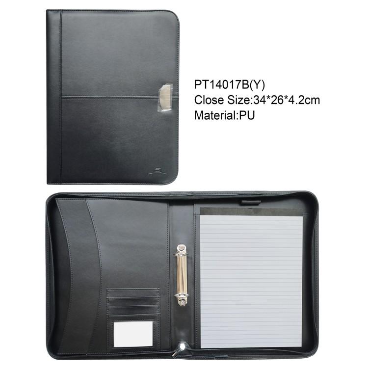 a4 pu black resume file folder personalized folio leather