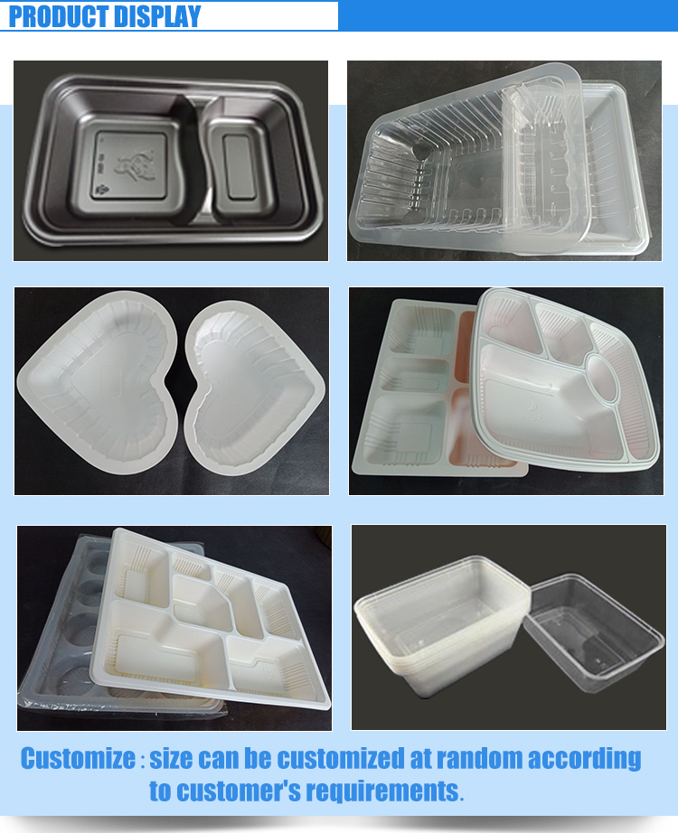 Wegwerp Plastic Compartiment Verdeeld Lunchbox
