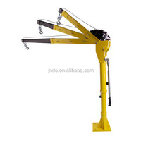500kg lifting capacity price of mobile crane with 3000lbs electric winch