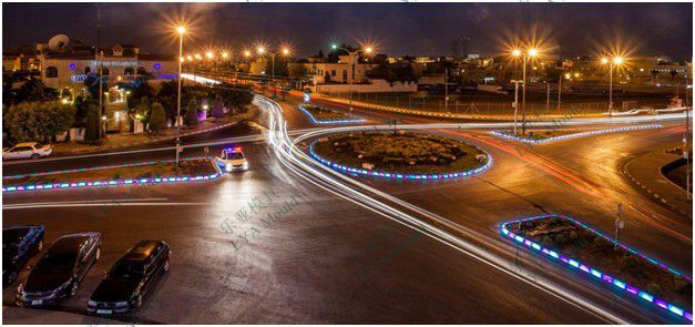 Curbs Streets Illuminated Sidewalks Illuminated View