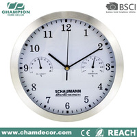 10 inch ntp analog metal wall big ben clay clock with temperature and humidity