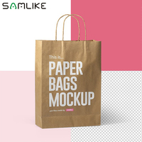 Custom Retail Bulk Paper Bags Design Cheap Disposable Shopping Paper Packaging Gift Bag With Logo Print
