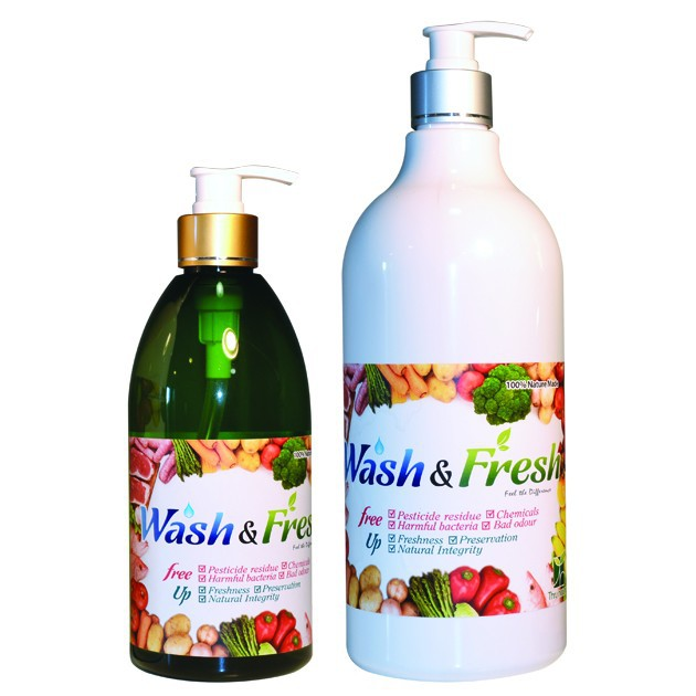 Wash & Fresh (100% Nature Made) Unique Foods Cleansing Solution / Sterilizing any items / increasing Freshness & Preservation