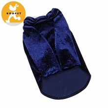 Dark Blue Velour Dog Clothes Pet Apparel Cat Clothes