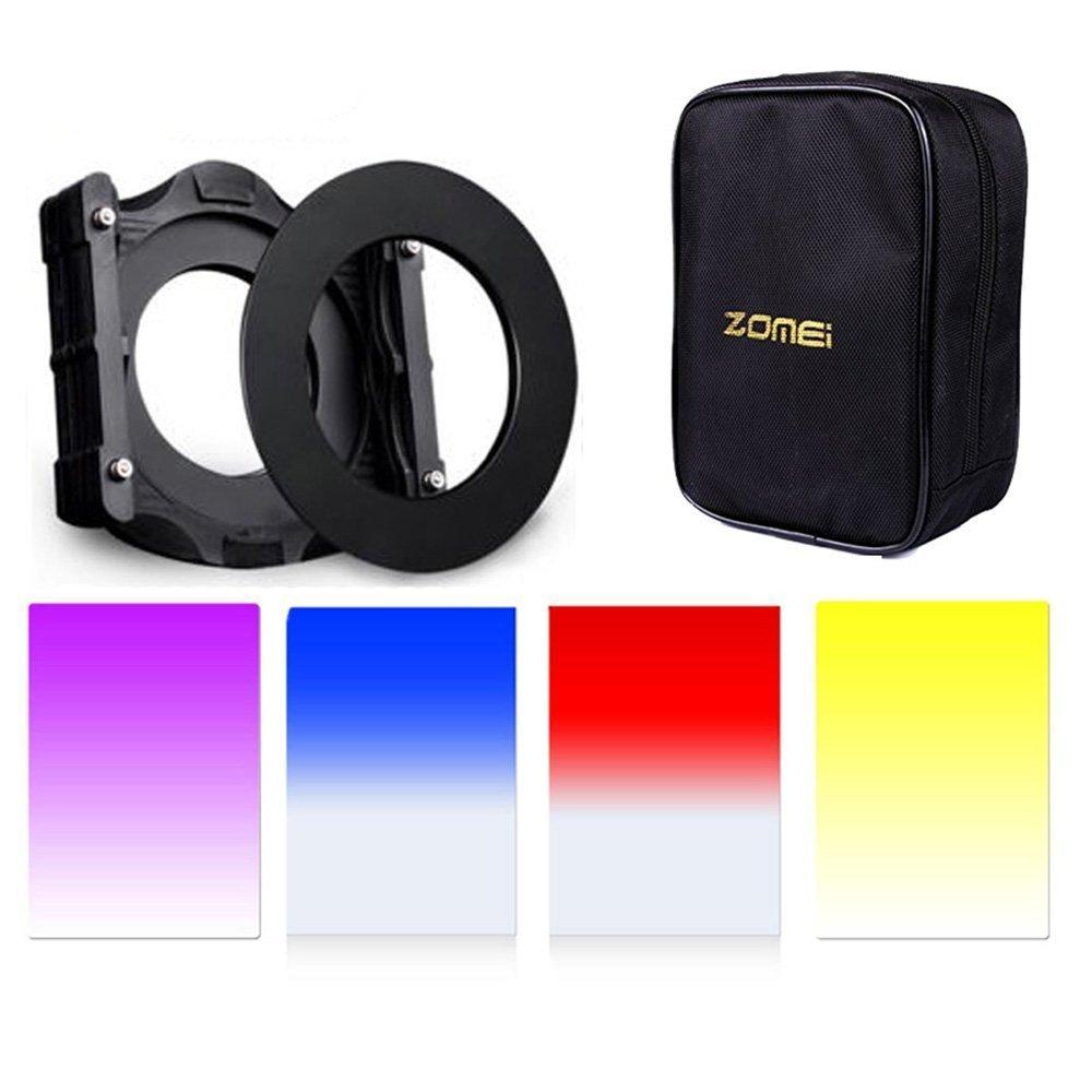 Zomei 7 in1 Square Z-Pro Kit Multifunctional Filter Holders+Adapter Ring+16 Solt CAS+Gradual(Purple+Blue+Orange+Red) for Cokin Z (67mm)
