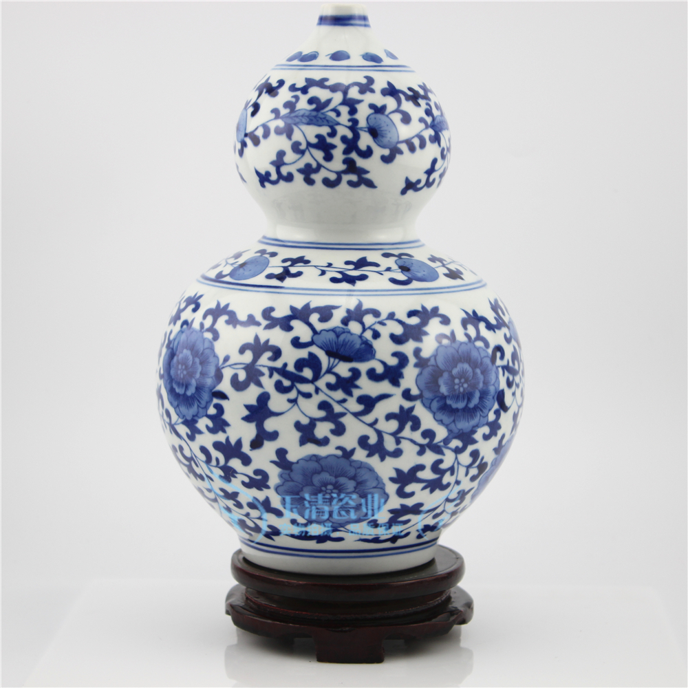 jingdezhen ceramic blue and white flower vase Indoor decoration