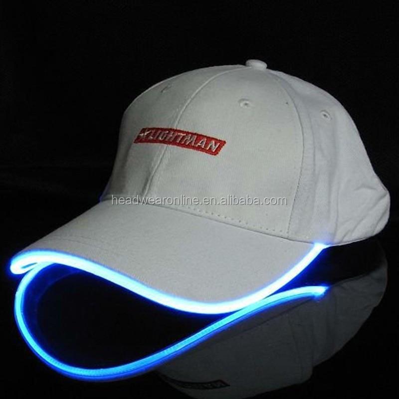 Cap With Built In Led Light Flashing Caps Fiber Optic Hats Led - Buy ... 9cca8bb23eea