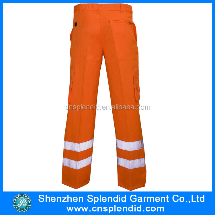 3663f5725e2 Custom High Visibility Trousers Cargo Reflective Work Safety Pants ...