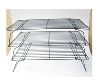 High quality metal wire 3 tiers folding cake bread bakery cooling rack