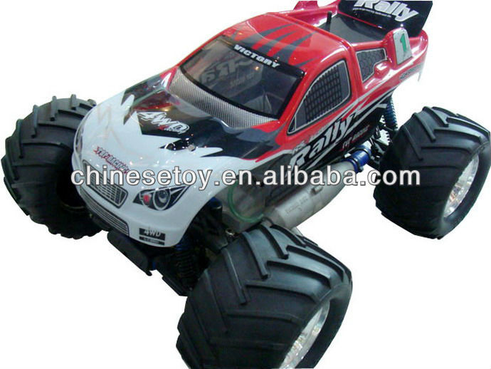 1:8 RC Gas Powered 2-speed Gearbox 30CC Engine 4WD Rustler RTR Nitro RC Monster Truck