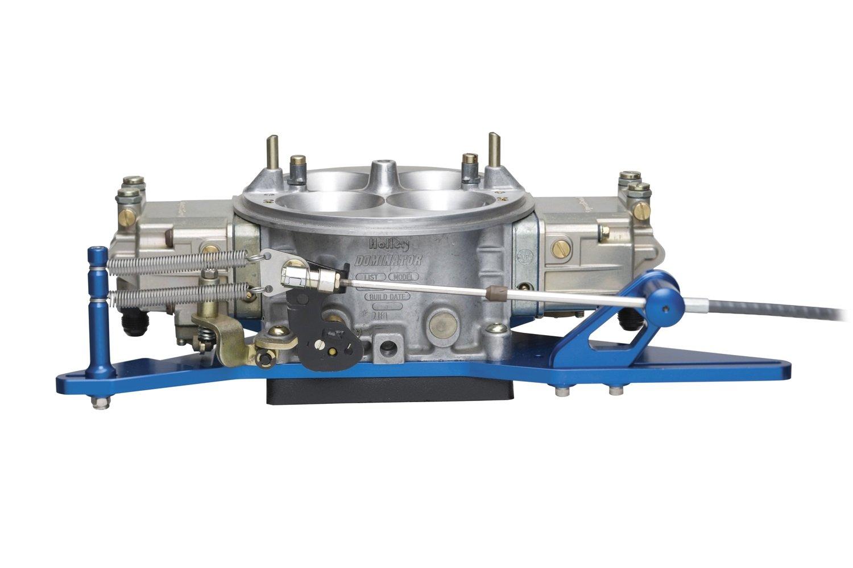 Lokar 1010128 Black Push/Pull Throttle Cable Mounting Bracket and Spring Return Kit for Open Plenum