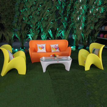 Easy Moved Yellow Colors Butterfly Shape Outdoor Sofa Sets For  Garden outdoor  use