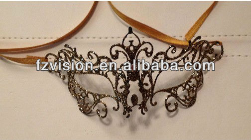 Small Party Napkin Decoration Filigree Metal Masks For Sale