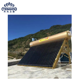 Guangzhou solar evacuated tube solar panel hot water heater for home solar system and heat pump heating project 250L