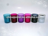 seven color glass candles