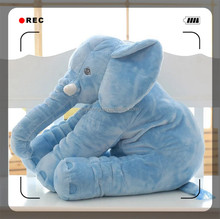 Cheap wholesale long nose soft stuffed elephant plush doll pillow