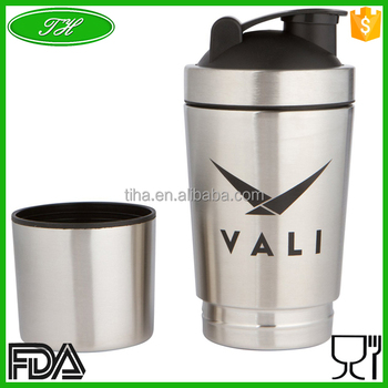 blank stainless steel insulated shaker bottle