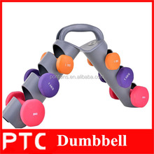 Neoprene dumbbell set com rack de ginásio crossfit utilizado dumbbell rack para venda