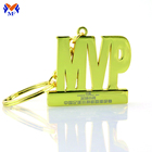 Craft high quality metal custom letter gold logo keyring