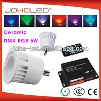 with memory function ceramic body dmx remote controller led rgb bulb 3w 5w led rgb light