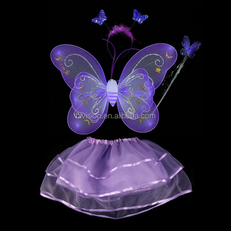 Fairy wing and wand set various colours