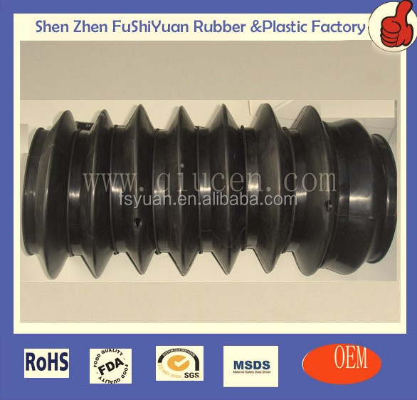 molding rubber seal bellow dust cover Rubber Protective Sleeve rubber bellow sleeve accordiorubber bellows tube