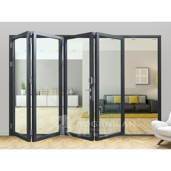 ROGENILAN 75# Four panels german hardware folding door bifold door