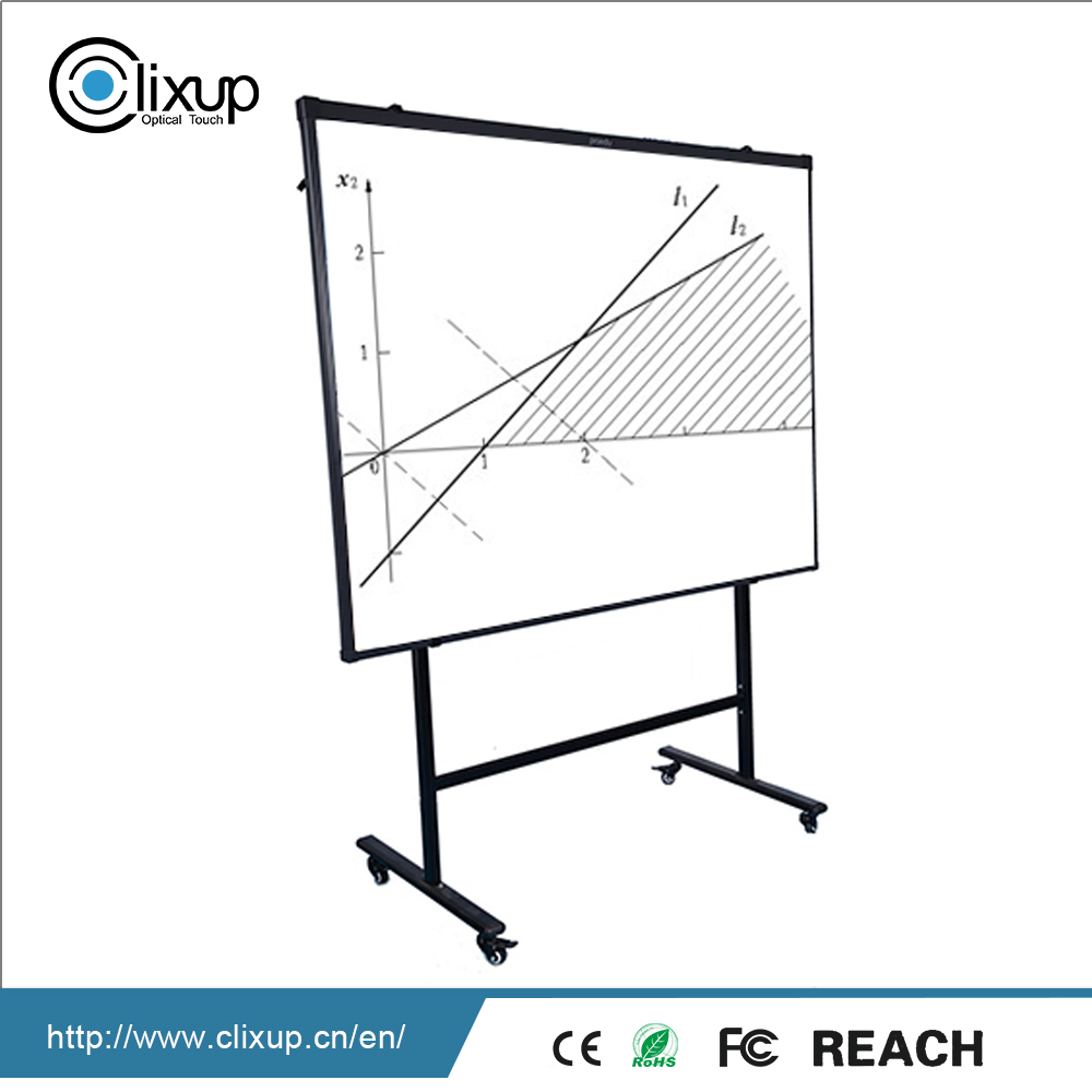 Hot Selling 77 83 86 90 100 inch removable two wheel electric interactive tv touch screen smart dry erase board