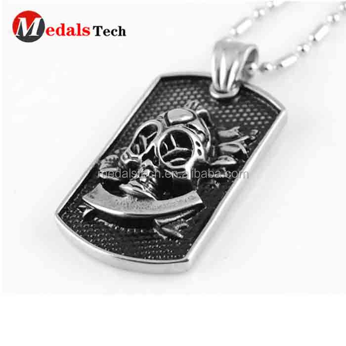 Promotional custom die casting printed photo souvenir metal dog tags