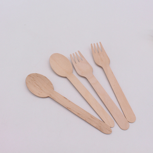 Custom style disposable wooden/bamboo fork/spoon/knife