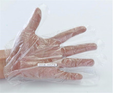 LDPE HDPE disposable PE gloves for medical using Stretch PE / Poly Gloves