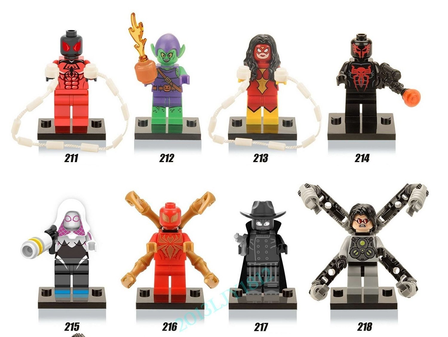 8x MiniFigure Block Toy