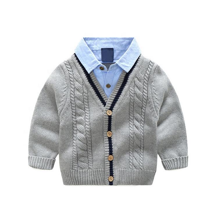 Hoge kwaliteit custom lange mouwen baby boy Vest jongens stijlvolle truien jongens trui ontwerp