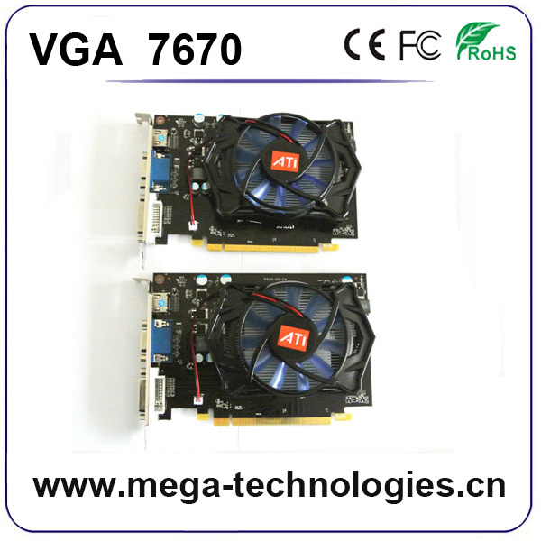 wholesale price video gaming graphic card VGA 7670 for desktop computer