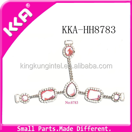 Fashion zinc alloy sandal chain accessories buckle for shoe decoration
