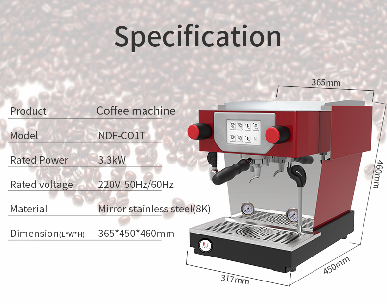 Automatic 3300W Espresso Coffee machine Two group coffee makers for sales