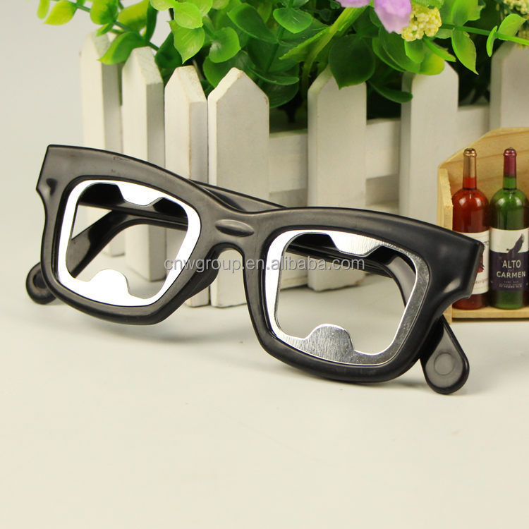 novelty design eye glass shape plastic beer bottle opener