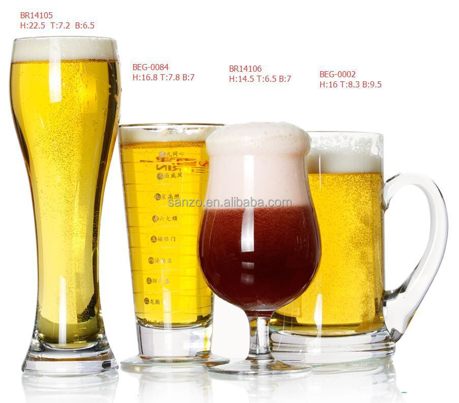 wholesale promotional gifts beer glass with logo for drinkware glass