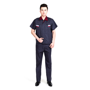 short sleeve cheap price work wear uniform China factory high quality